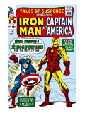 Tales Of Suspense 59 Cover: Iron Man and Captain America Charging
