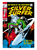 Marvel Comics Retro: Silver Surfer Comic Book Cover 11  Bitter Victory