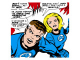 Marvel Comics Retro: Fantastic Four Comic Panel  Mr Fantastic  Invisible Woman