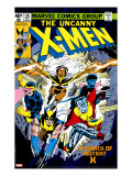 Uncanny X-Men 126 Cover: Wolverine  Colossus  Storm  Cyclops  Nightcrawler and X-Men Fighting