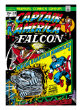 Marvel Comics Retro: Captain America Comic Book Cover No178  with the Falcon