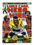 Marvel Comics Retro: Luke Cage  Hero for Hire Comic Book Cover 15  in Chains