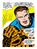 Marvel Comics Retro: Fantastic Four Comic Panel  Thing  Mr Fantastic