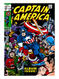 Marvel Comics Retro: Captain America Comic Book Cover 112  Album Issue!