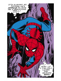 Marvel Comics Retro: The Amazing Spider-Man Comic Panel  Crawling