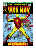 Marvel Comics Retro: The Invincible Iron Man Comic Book Cover 47  Breaking Through Chains