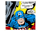 Marvel Comics Retro: Captain America Comic Panel  Villain Monologue  Say your Prayers
