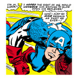 Marvel Comics Retro: Captain America Comic Panel  Monologue  I'm in Luck!