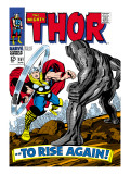 Marvel Comics Retro: The Mighty Thor Comic Book Cover 151 --To Rise Again!