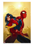 New Avengers No59 Cover: Spider-Man and Spider Woman