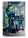 Exiles 95 Group: Doom  Victor Von  Human Torch  Invisible Woman and Hulk