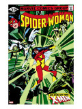 Spider-Woman 38 Cover: Spider Woman  Colossus  Juggernaut  Angel  Storm and X-Men