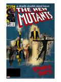 The New Mutants 4 Cover: Sunspot  Cannonball  Magik  Magma  Wolfsbane and New Mutants