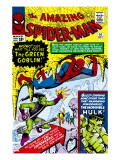 Amazing Spider-Man No14 Cover: Spider-Man  Green Goblin and Hulk