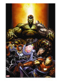 World War Hulk 4 Cover: Hulk  Dr Strange  Mr Fantastic and Iron Man