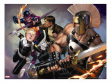Secret Warriors 8 Cover: Ares and Phobos