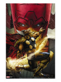 Beta Ray Bill: Godhunter 1 Cover: Beta-Ray Bill and Galactus