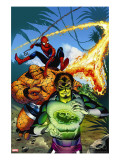 Spider-Man Family 7 Cover: Spider-Man  Thing  Looter and Human Torch