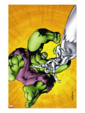 Marvel Adventures Hulk 7 Cover: Hulk and Silver Surfer