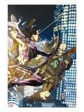 Dark Reign: Young Avengers 2 Cover: Hawkeye and Executioner
