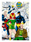 X-Men 1 Pin-up Group: Blast From The Past  Original X-Men