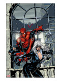 Marvel Knights Spider-Man 4 Cover: Spider-Man and Black Cat