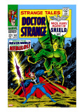 Strange Tales 162 Cover: Dr Strange and Nebulos Flying