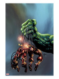 Incredible Hulk 73 Cover: Hulk and Iron Man