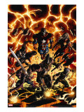 Dark Avengers No2 Cover: Iron Patriot  Ares  Ms Marvel  Marvel Boy  Hawkeye and Spider-Man