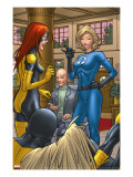 X-Men: First Class 1 Group: Marvel Girl  Angel  Xavier  Charles and Invisible Woman Fighting
