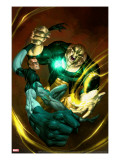 Ultimate Fantastic Four 51 Cover: Mr Fantastic and Thanos
