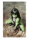 She-Hulk 3 Cover: She-Hulk Crouching