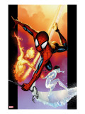 Ultimate Spider-Man 118 Cover: Spider-Man  Iceman and Firestar