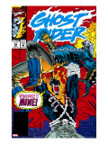 Ghost Rider 39 Cover: Ghost Rider and Vengeance Fighting