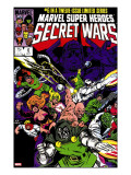 Secret Wars 6 Cover: Dr Doom  Absorbing Man  Lizard  Doctor Octopus  Wrecker and Ultron