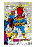 Infinity Gauntlet 5 Group: Thanos  Dr Strange  Silver Surfer  Adam Warlock and Nebula Crouching