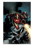 Iron Man 85 Cover: Iron Man  Falcon  Wasp  Ant-man  Black Panther and Avengers