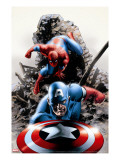 Spectacular Spider-Man 15 Cover: Captain America and Spider-Man