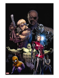 Ultimate Avengers 3 Cover: Red Wasp  Hulk  Spider-Man  Hawkeye  Nick Fury and War Machine