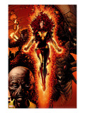 X-Men: Legacy 211 Cover: Dark Phoenix  Brood  Nova and Cassandra