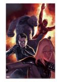 Ultimate Fantastic Four 50 Cover: Invisible Woman  Mr Fantastic  Thing and Human Torch