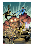 Marvel Adventures Fantastic Four 35 Cover: Thing and Mr Fantastic