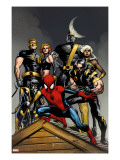 Ultimate Spider-Man 120 Cover: Spider-Man  Wolverine  Nightcrawler  Cyclops  Phoenix and Colossus