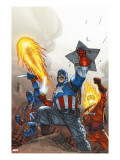 The New Invaders 2 Cover: Captain America