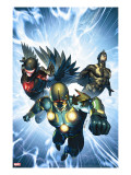Nova 33 Cover: Nova  Black Bolt and Darkhawk