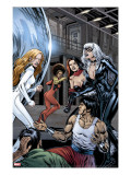 Heroes For Hire 7 Group: Black Cat  Knight  Misty  Tarantula  Shang-Chi  Wing and Colleen Fighting