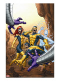 X-Men: First Class 13 Cover: Cyclops  Marvel Girl  Iceman and Beast