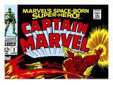 Captain Marvel 2 Cover: Super Skrull and Captain Marvel Swinging