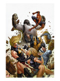 Agents of Atlas 5 Cover: Namora  Ms Marvel  Wolverine  M-11  Spider-Man and Gorilla-Man