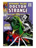 Strange Tales 166 Cover: Dr Strange and Voltorg